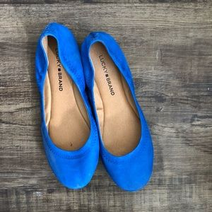 Lucky Brand suede flats size 7.5 New never worn!